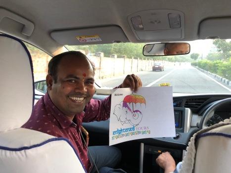 Jogi welcoming us in New Delhi